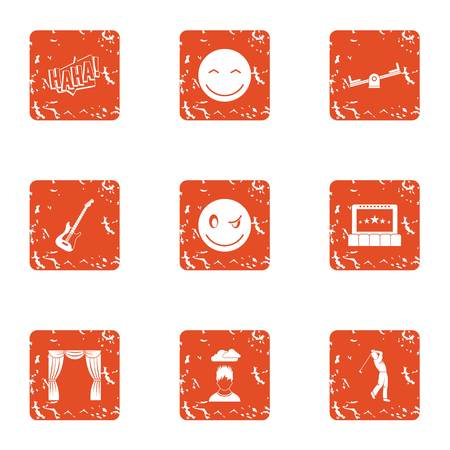 Golf icons set. Grunge set of 9 golf vector icons for web isolated on white background