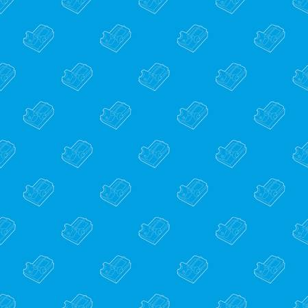 Mousetrap pattern vector seamless blue repeat for any use