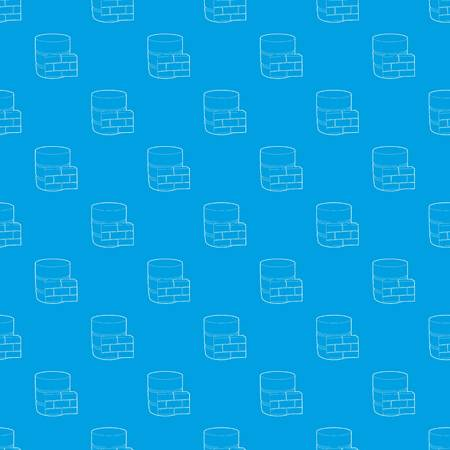 Not available database pattern vector seamless blue repeat for any use Illustration
