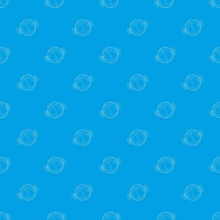 Globe database pattern vector seamless blue repeat for any use Stock Illustratie