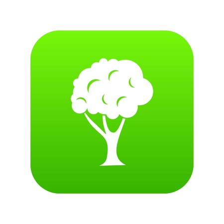 Tree icon digital green for any design isolated on white vector illustration Illustration