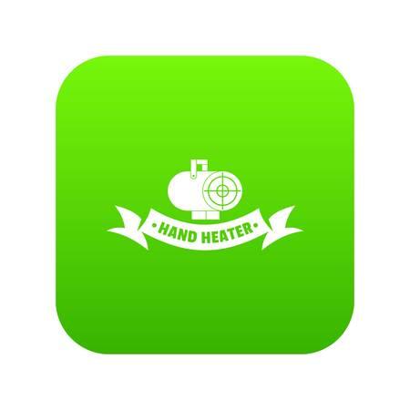 Power heater icon green vector