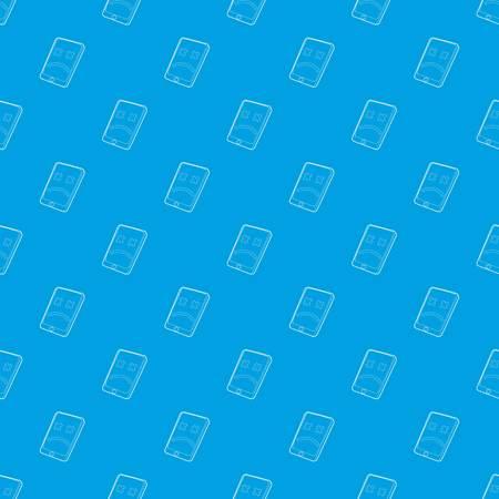 Gadget broken pattern vector seamless blue