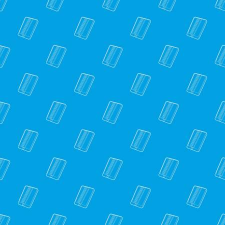 Gadget matrix screen deffect pattern vector seamless blue Illustration