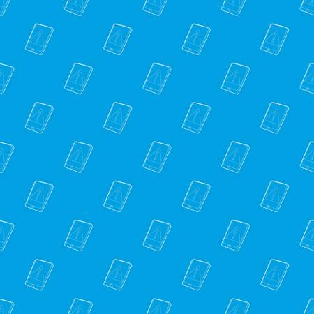 Gadget primary attention pattern vector seamless blue