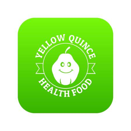 Yellow quince icon green vector