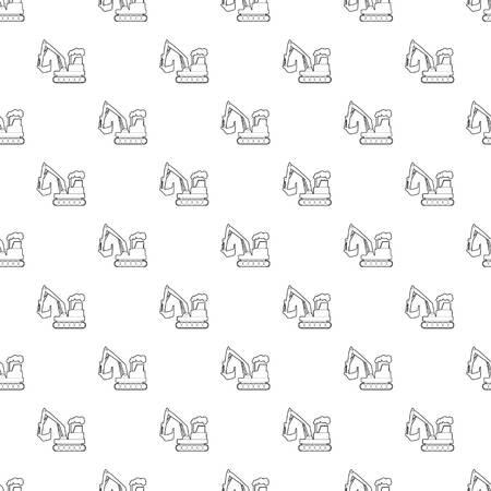Excavator pattern vector seamless Illustration