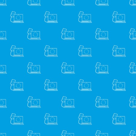 Gadgets synchronized operation pattern vector seamless blue