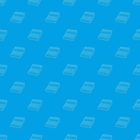 Equalizer pattern vector seamless blue Illustration