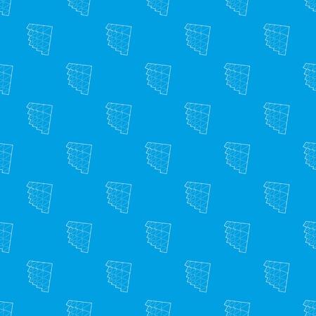 Studio insulation pattern vector seamless blue Illustration