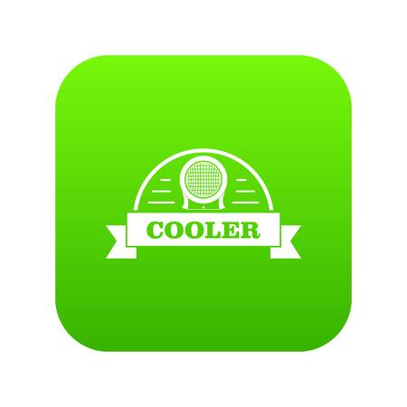 Air cooler icon green vector