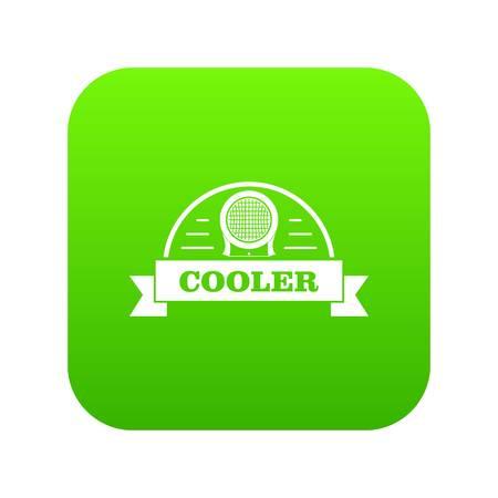 Air cooler icon green vector