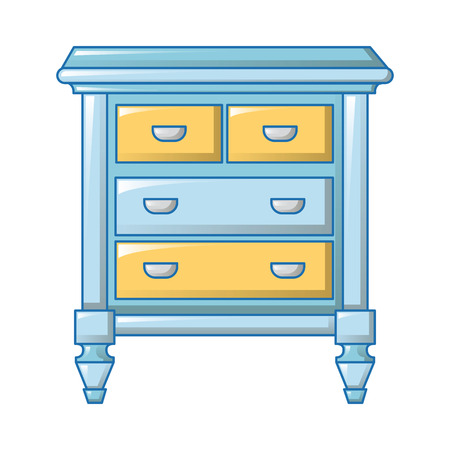 Vintage bedside icon, cartoon style