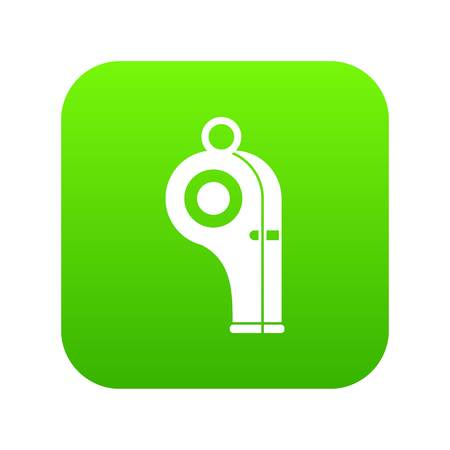 Sport whistle icon digital green