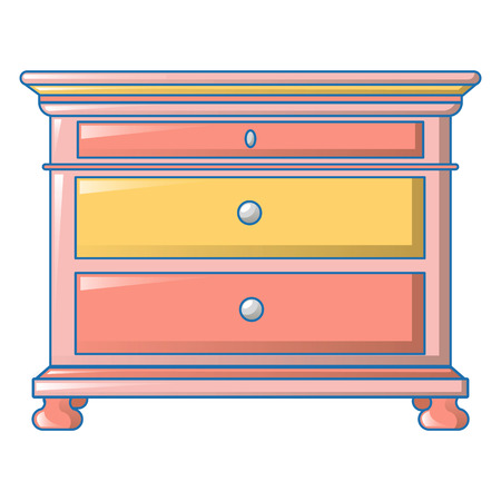 Vintage drawers icon, cartoon style