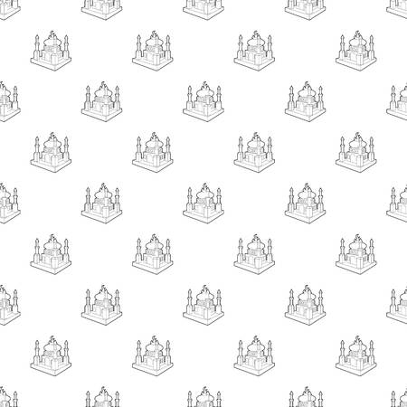 Arabic town pattern vector seamless repeating for any web design