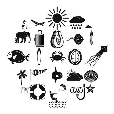 Dive icons set. Simple set of 25 dive vector icons for web isolated on white background Illustration