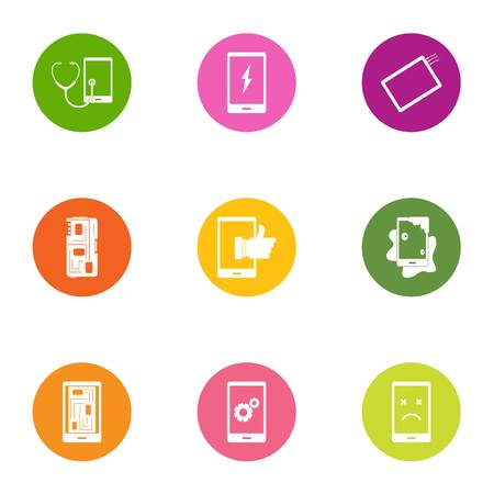 Shade icons set. Flat set of 9 shade vector icons for web isolated on white background