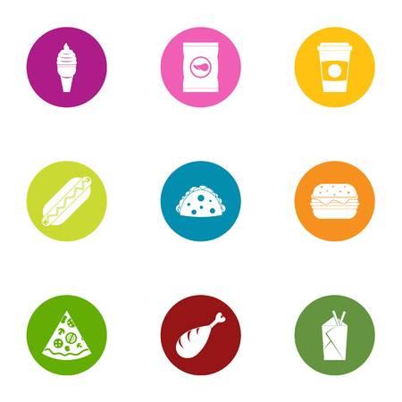 Provision icons set. Flat set of 9 provision vector icons for web isolated on white background Illustration