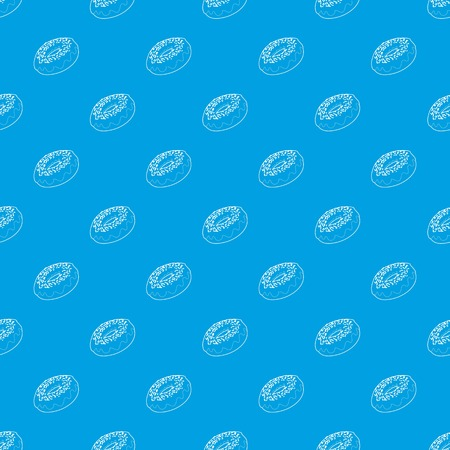 Fresh donut pattern vector seamless blue repeat for any use Illustration
