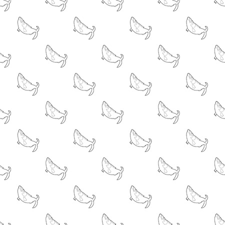 Fish pattern vector seamless repeating for any web design Illustration