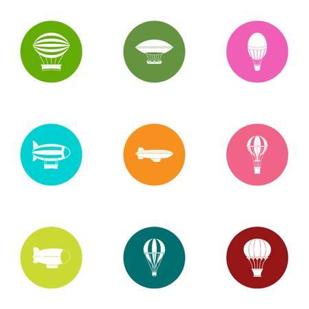Locomotion icons set. Flat set of 9 locomotion vector icons for web isolated on white background