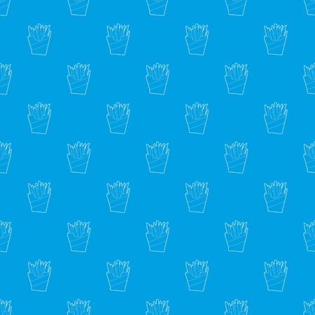 Potato fri pattern vector seamless blue repeat for any use