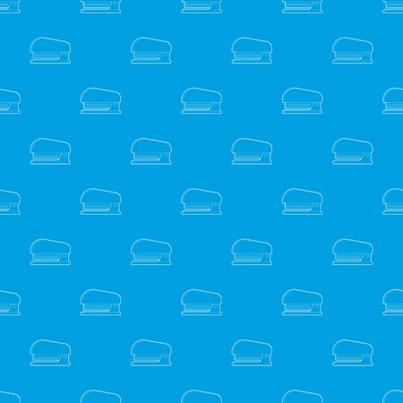 Stapler pattern vector seamless blue repeat for any use Illustration