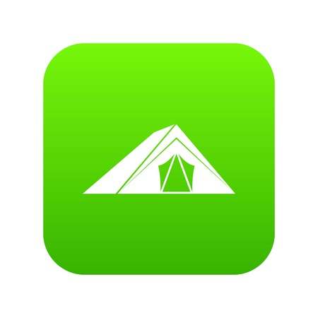 Tent icon digital green for any design isolated on white vector illustration