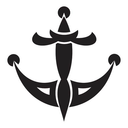 Tattoo anchor icon. Simple illustration of tattoo anchor vector icon for web design isolated on white background