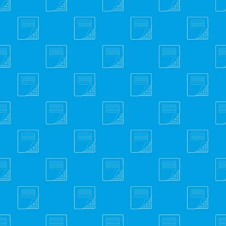 Folder with table excel pattern vector seamless blue repeat for any use