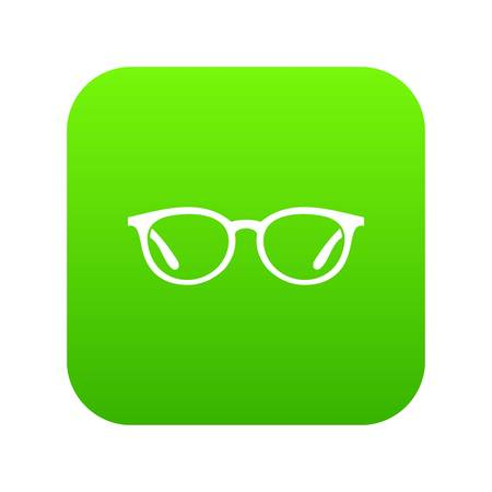Glasses icon digital green for any design isolated on white vector illustration