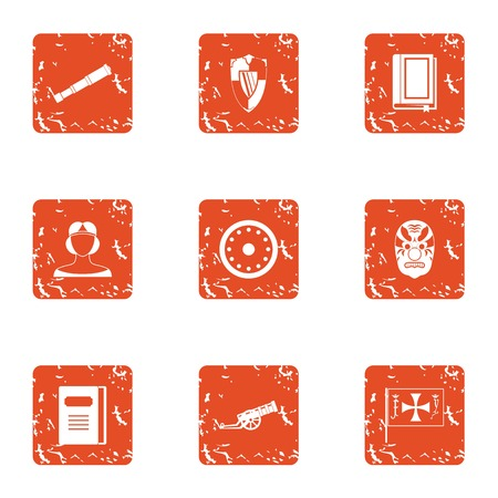 Breakthrough icons set. Grunge set of 9 breakthrough vector icons for web isolated on white background