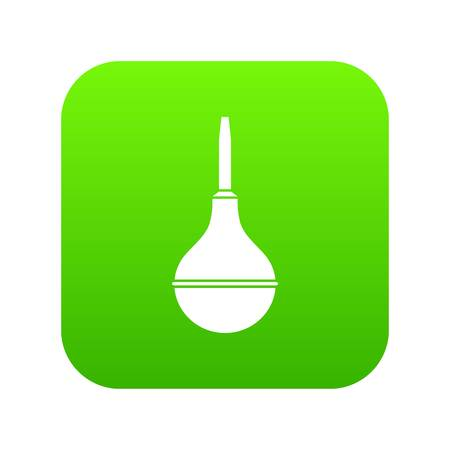Medical pear icon digital green for any design isolated on white vector illustration