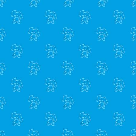 Soft toy pattern vector seamless blue repeat for any use Illustration