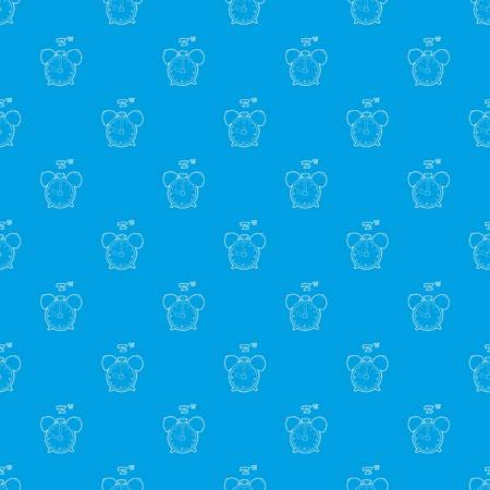Alarm clock pattern vector seamless blue repeat for any use Illustration