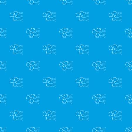 Ventilator pattern vector seamless blue Illustration