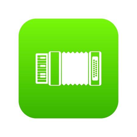 Accordion icon digital green