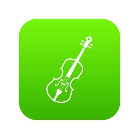 Cello icon digital green
