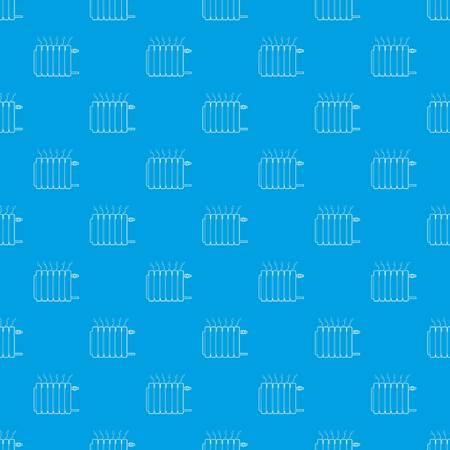 Heating battery pattern vector seamless blue