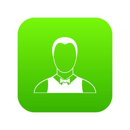 Waiter icon digital green