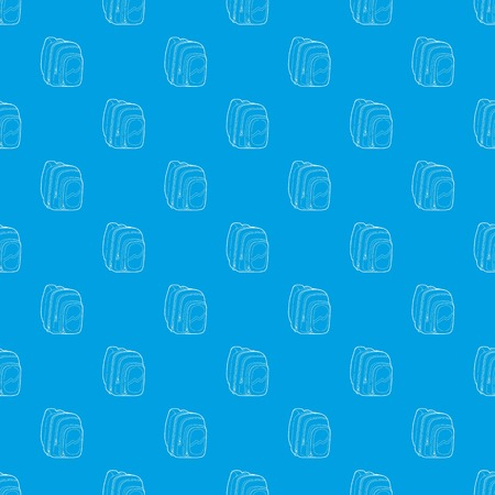 Kids school bag pattern vector seamless blue
