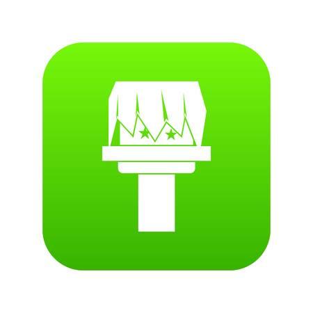 Box magic icon digital green