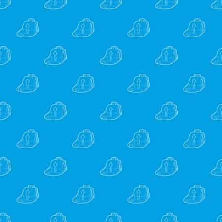 Postal bag pattern vector seamless blue Illustration