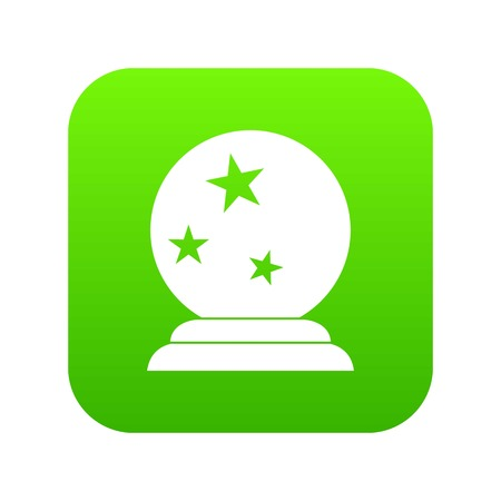 Magic ball icon digital green