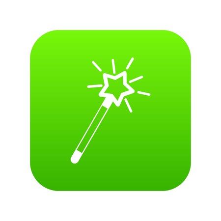 Magic wand icon digital green