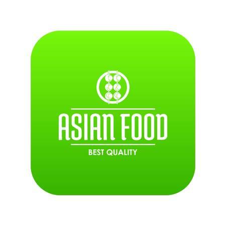 Kwaliteit Aziatisch eten pictogram groen vector