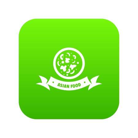 Top asian food icon green vector