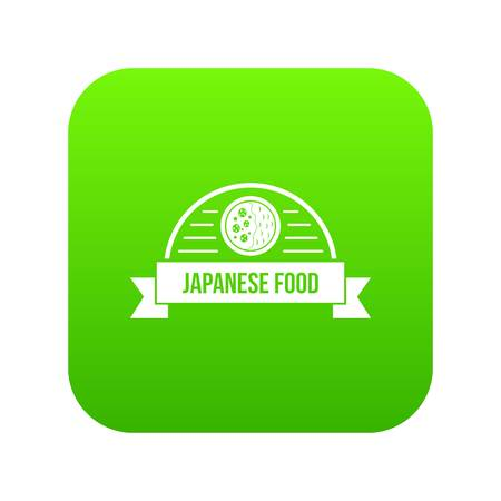 Traditional japanese food icon green vector