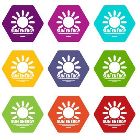 Icônes d'énergie solaire mis 9 vector